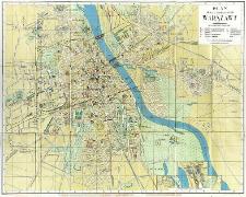 Plan miasta stołecznego Warszawy