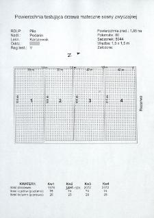 Testowanie drzew matecznych sosny zwyczajnej. Północno-zachodni Region testowania. Nr 51/So/D/V/2/DM1