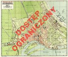 Übersichts-Karte von Swinemünde : Strand und Stadt nebst Umgebungskarte