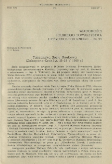 Tatrzańska Sesja Naukowa (Zakopane-Kraków, 25-28 V 1969 r.)