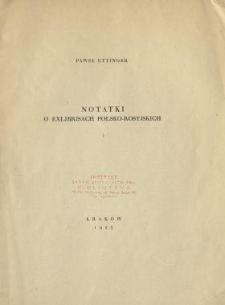Notatki o exlibrisach polsko-rosyjskich. 1