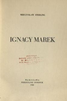 Ignacy Marek