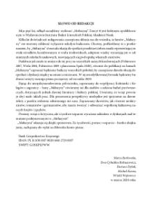 Nr 2 (11) 2019 | Rocznik VI, Słowo od redakcji