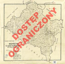 Województwo śląsko-dąbrowskie : mapa podziału administracyjnego, stan z dnia 1. I. 1946 r.