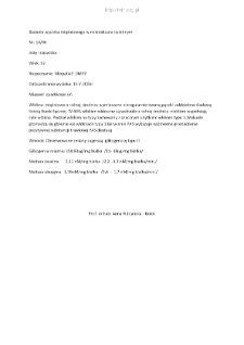 Kartoteka przypadków klinicznych chorób nerwowo-mięśniowych (2006) - opis nr 14/06
