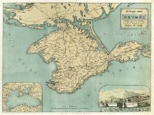 Nouvelle carte de la Crimée : Illustrée d'une vue de Sébastopol et d'une carte de La Mer Noire, pour servir à l'intelligence de la guerre