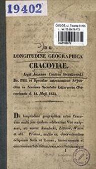 De longitudine geographica Cracoviae