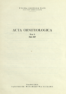 Acta Ornithologica ; t. 10 - Spis treści