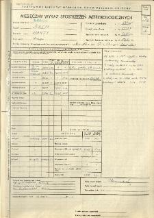 Miesięczny wykaz spostrzeżeń meteorologicznych. Październik 1957