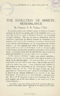 The evolution of mimetic resemblance