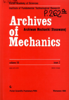 Archives of Mechanics Vol. 50 nr 2 (1998)