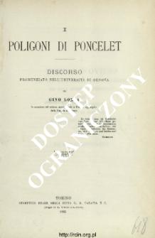 I poligoni di poncelet : discorso pronunziato nell'università di Genova