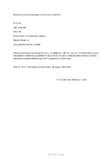 Kartoteka przypadków klinicznych chorób nerwowo-mięśniowych (2006) - opis nr 21/06