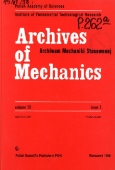Archives of Mechanics Vol. 50 nr 1 (1998)