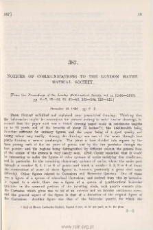 Notices of Communications to the London Mathematical Society