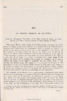 An Eighth Memoir on Quantics