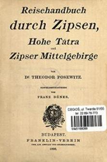 Reisehandbuch durch Zipsen, Hohe Tátra und Zipser Mittelgebirge