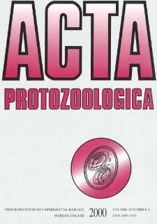 Acta Protozoologica, Vol. 39, Nr 3 (2000)