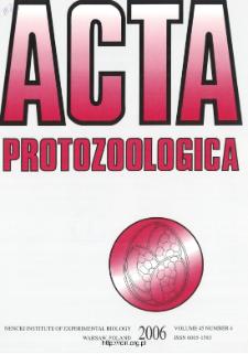 Acta Protozoologica, Vol. 45, Nr 4 (2006)