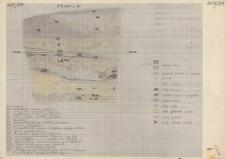 KZG, V 20 B D, profil archeologiczny W wykopu