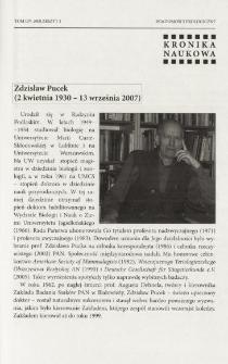 Zdzisław Pucek (2 kwietnia 1930 - 13 września 2007)