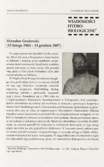 Mirosław Grużewski (15 lutego 1964 - 24 grudnia 2007)