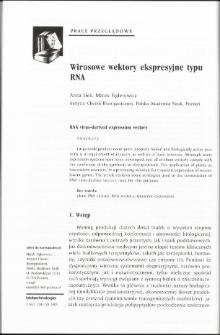Wirusowe wektory ekspresyjne typu RNA