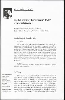 Modyfikowane, katalityczne kwasy rybonukleinowe