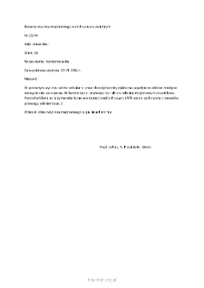Kartoteka przypadków klinicznych chorób nerwowo-mięśniowych (2004) - opis nr 15/04