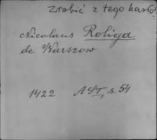 Kartoteka Słownika staropolskich nazw osobowych; Rol - Ror