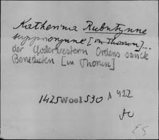 Kartoteka Słownika staropolskich nazw osobowych; Rub - Ruch