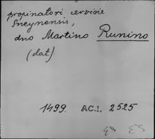 Kartoteka Słownika staropolskich nazw osobowych; Run - Rus
