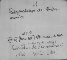 Kartoteka Słownika staropolskich nazw osobowych; Ryn - Ryp