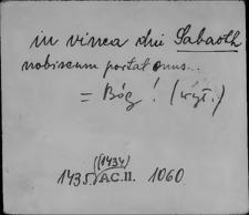 Kartoteka Słownika staropolskich nazw osobowych; Sa - Sab