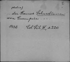 Kartoteka Słownika staropolskich nazw osobowych; Sch - Sci