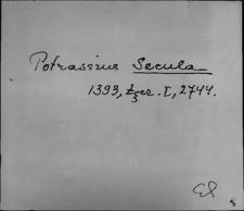 Kartoteka Słownika staropolskich nazw osobowych; Sek - Sędz