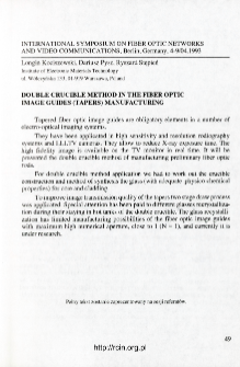 Udział pracowników ITME w konferencjach 1993 T.21 nr 1