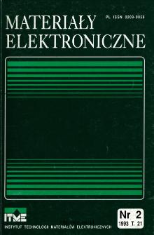 Spis treści 1993 T.21 nr 2 = Contents 1993 T.21 nr 2