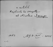 Kartoteka Słownika staropolskich nazw osobowych; Sęp - Sian