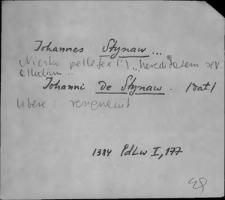 Kartoteka Słownika staropolskich nazw osobowych; Ści - Śl