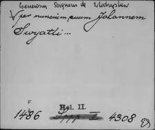 Kartoteka Słownika staropolskich nazw osobowych; Świa - Świeb