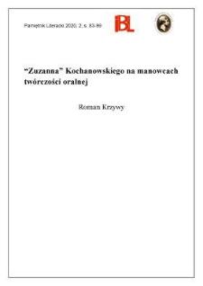 """""""Zuzanna"""" Kochanowskiego na manowcach twórczości oralnej"""