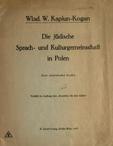Die jüdische Sprach- und Kulturgemeinschaft in Polen : eine statistische Studie