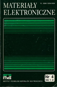 Spis treści 1993 T.21 nr 4 = Contents 1993 T.21 nr 4