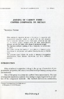 Joining of carbon fibre - copper composite to metals