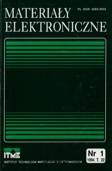 Spis treści 1994 T.22 nr 1