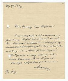 List Ivana Mirczuka do Kazimierza Twardowskiego : 19.11.1927