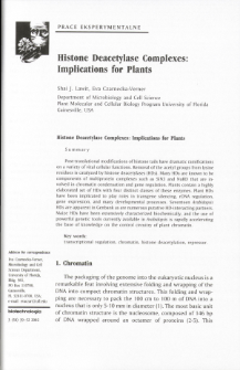 Histone Deacetylase Complexes: Implications for Plants