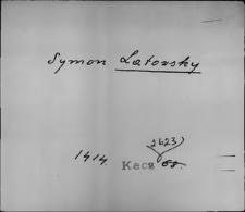 Kartoteka Słownika staropolskich nazw osobowych; Wyłączone (na litere L)
