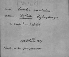 Kartoteka Słownika staropolskich nazw osobowych; Wyłączone litewskie